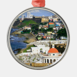 San Juan Puerto Rico Silver-Colored Round Ornament