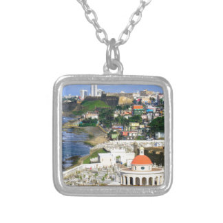 San Juan Puerto Rico Silver Plated Necklace
