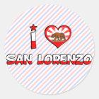 San Lorenzo, CA Classic Round Sticker