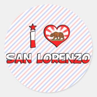 San Lorenzo, CA Round Sticker