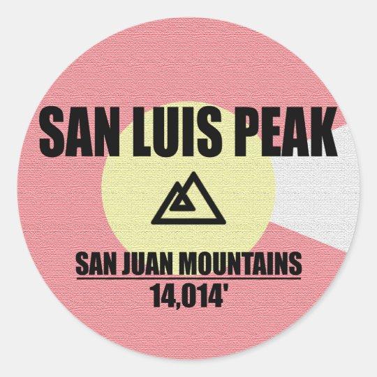 San Luis Peak Classic Round Sticker