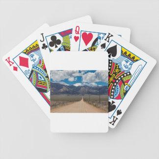 San Luis Valley Back Road Cruising Bicycle Playing Cards