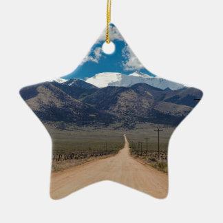 San Luis Valley Back Road Cruising Ceramic Ornament