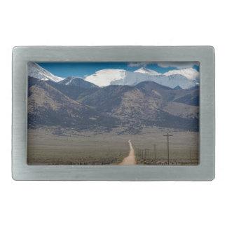 San Luis Valley Back Road Cruising Rectangular Belt Buckle