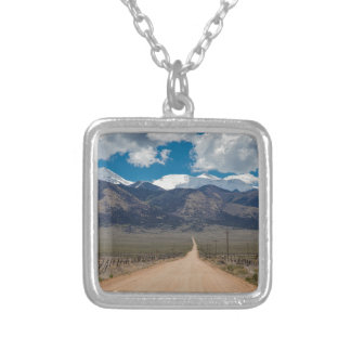 San Luis Valley Back Road Cruising Silver Plated Necklace