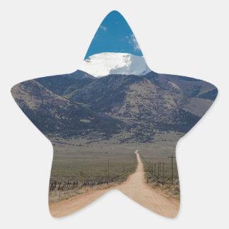San Luis Valley Back Road Cruising Star Sticker