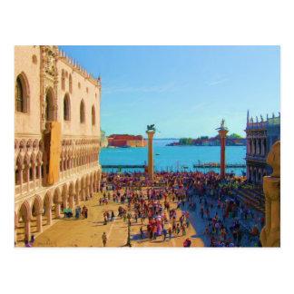 San Marco Piazza - Venezia Italia Postcard