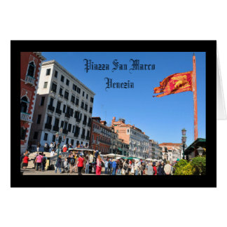 San Marco square in Venice, Italy Card