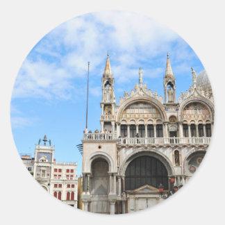 San Marco square in Venice, Italy Classic Round Sticker