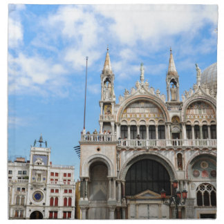 San Marco square in Venice, Italy Napkin