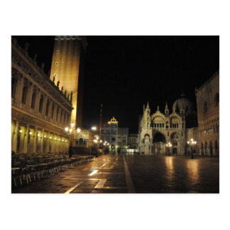 San Marco Square, Venice Italy (5:30 a.m.) Postcard