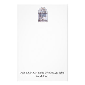 San Marco Winged Lion Stained Glass Window Stationery Paper