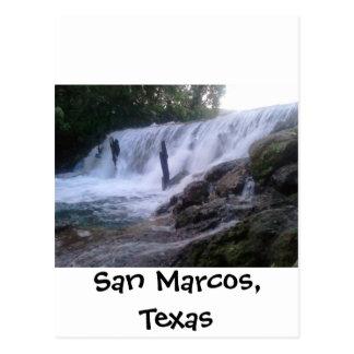 San Marcos River Falls Postcard