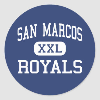 San Marcos - Royals - High - Santa Barbara Classic Round Sticker