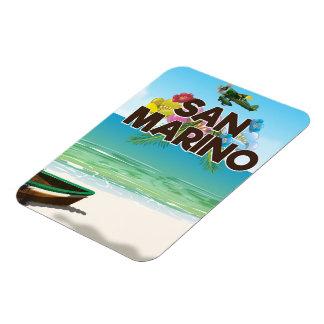San Marino Beach travel poster Magnet