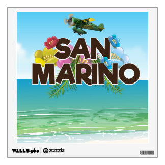 San Marino Beach travel poster Wall Sticker