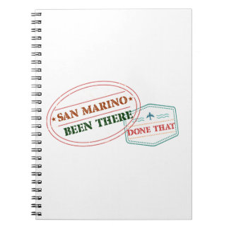 San Marino Been There Done That Note Books