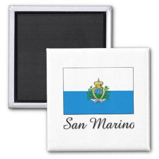 San Marino Flag Design Magnet