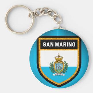 San Marino Flag Keychain