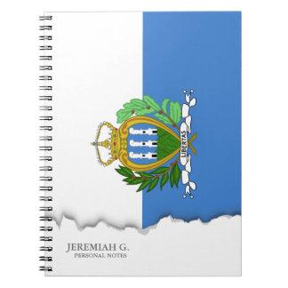 San Marino Flag Notebook