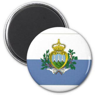 San Marino National Flag 2 Inch Round Magnet