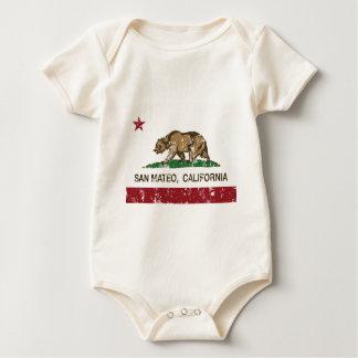san mateo california state flag baby bodysuit