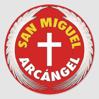 San Miguel Arcangel Classic Round Sticker