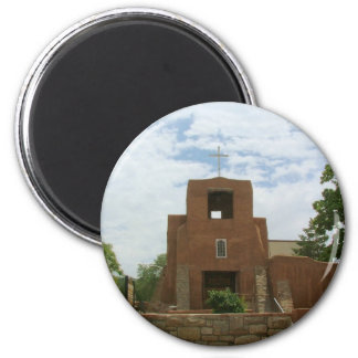 San Miguel Chapel 2 Inch Round Magnet