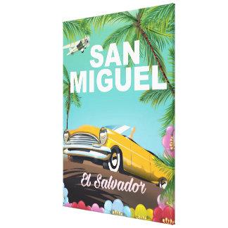 San Miguel El Salvador vintage travel poster Canvas Print
