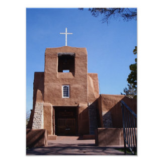 SAN MIGUEL MISSION, SANTA FE NEW MEXICO POSTER