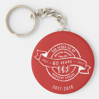 San Pedro Co-Op Nursery School 60th Anniversary Keychain