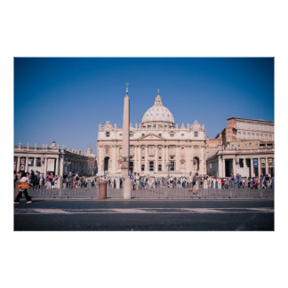 San Pietro Basilica in Vatican City Poster