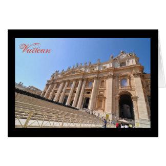 San Pietro basilica in Vatican, Rome, Italy Card