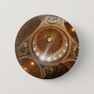 San Pietro basilica interior in Rome, Italy 2 Inch Round Button