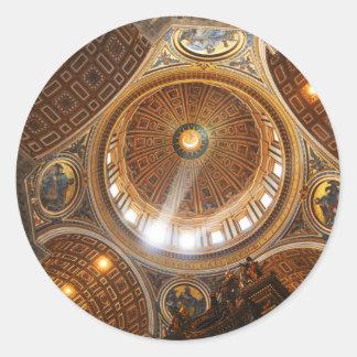 San Pietro basilica interior in Rome, Italy Classic Round Sticker