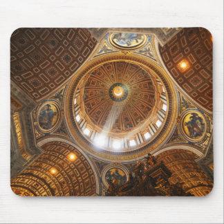 San Pietro basilica interior in Rome, Italy Mouse Pad