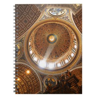 San Pietro basilica interior in Rome, Italy Notebook
