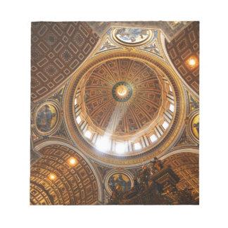 San Pietro basilica interior in Rome, Italy Notepad