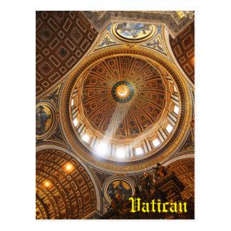 San Pietro basilica interior in Rome, Italy Postcard