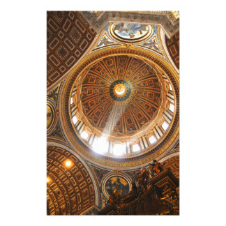 San Pietro basilica interior in Rome, Italy Stationery