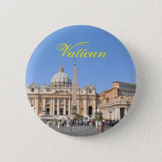 San Pietro square in Vatican, Rome, Italy 2 Inch Round Button