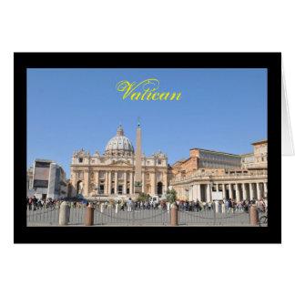 San Pietro square in Vatican, Rome, Italy Card