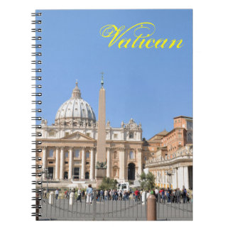 San Pietro square in Vatican, Rome, Italy Notebook