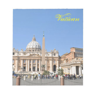 San Pietro square in Vatican, Rome, Italy Notepad