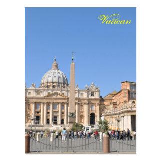 San Pietro square in Vatican, Rome, Italy Postcard