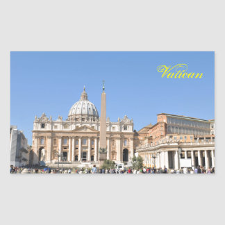 San Pietro square in Vatican, Rome, Italy Sticker