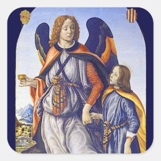 San Rafael Archangel Square Sticker