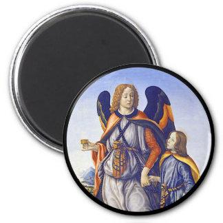 San Rafael Saint Raphael 2 Inch Round Magnet