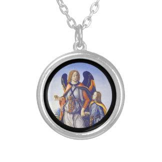 San Rafael Saint Raphael Silver Plated Necklace