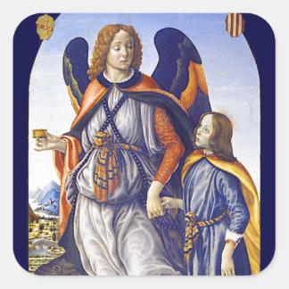 San Rafael Saint Raphael Square Sticker